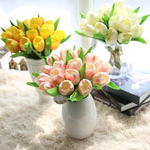 Holland Mini PU Tulip Flower Artificial Floral Bouquet Decor Wedding Bouquet Flowers Decoration