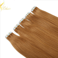 indian hair wholesale company human hair blond pu skin weft
