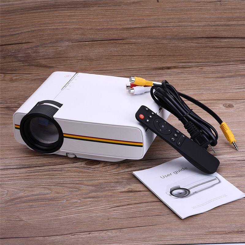 YG400 Portable LCD Projector 1000Lm LCD Video TV Movie Home Theater 1080P LCD Projector with Remote Control