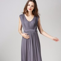 Ladies Evening Dress Maternity Nursing Clothing Pregnant Women and breastfeeding Clothes