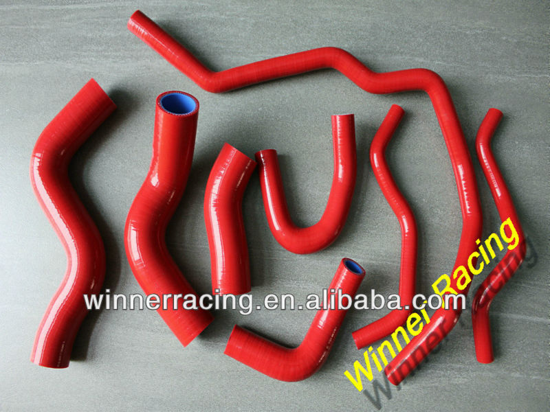Red Radiator silicone hose for VW Golf GTI FSI Mev MK 5 V 2.0T Turbo A5/PQ35