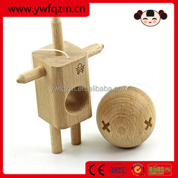 wholesale alibaba wooden robot kendama