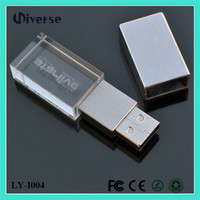 Promotional wholesale custom cheap 1gb 4gb 32gb 64gb 256gb bulk crystal usb flash drive