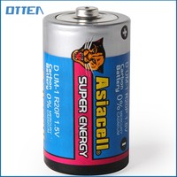 PVC jacket R20P parts dry cell battery d size new life power battery