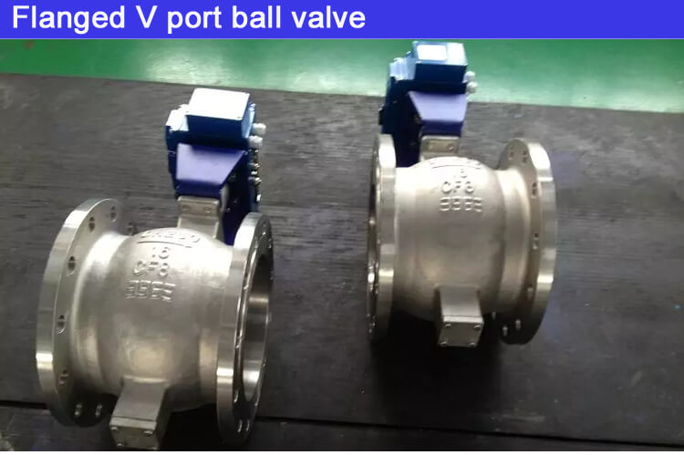 Pneumatic cast steel Stainless steel cf8m wafer type V port ball valve