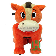 2017 hot sale ride on furry animal Motorized plush riding animals coin operated amusement kiddie rides for sale