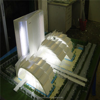 New building scale model with white led ight, 3d house model for real estate