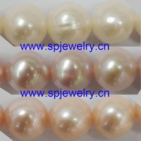 oyster shell pearl, similiar round 4-11mm 16-inch per strand