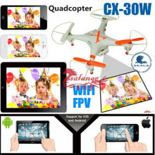 New 2015 China Children Toys FPV WIFI Drone Model CX30 with Camera APP Phone Controlled By Salange