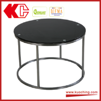 High Quality Modern Round Tempered Glass Coffee Table For Chair