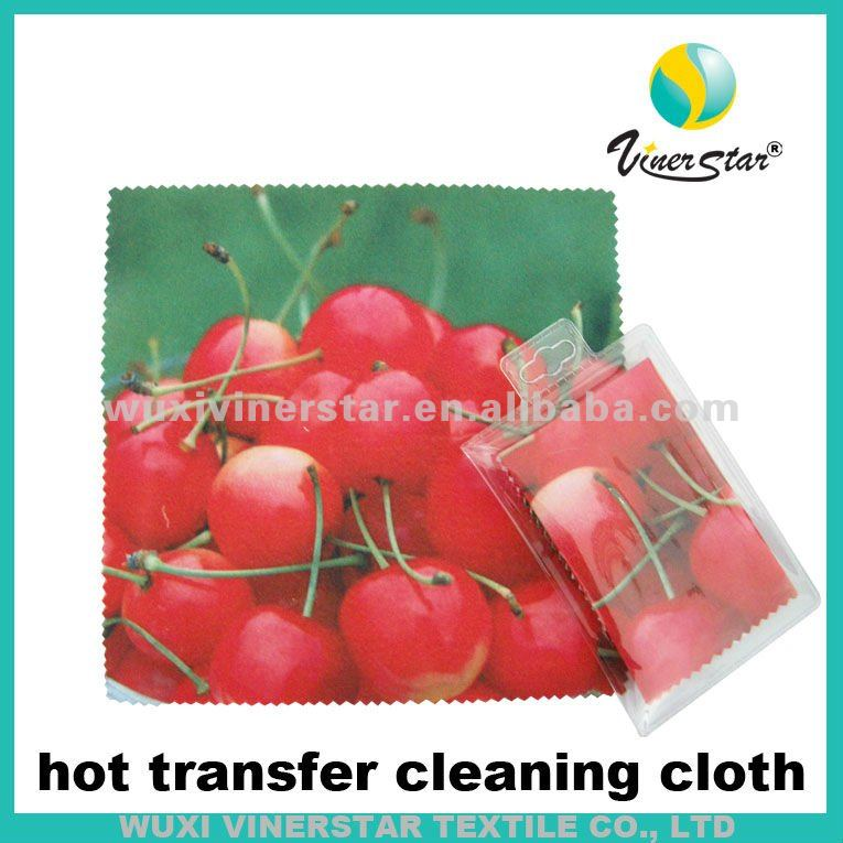 microfibre hot transfer printing sunglasses cleaning cloth