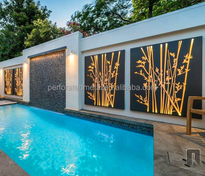 Outdoor wall art hanging screens buy outdoor wall art for Home exterior wall decorations