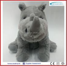 2016 custom plush toy stuffed grey rhino