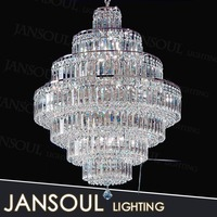 chinese indoor large modern fancy multi color vintage light fitting waterford crystal smoke glass chandelier for high ceiling