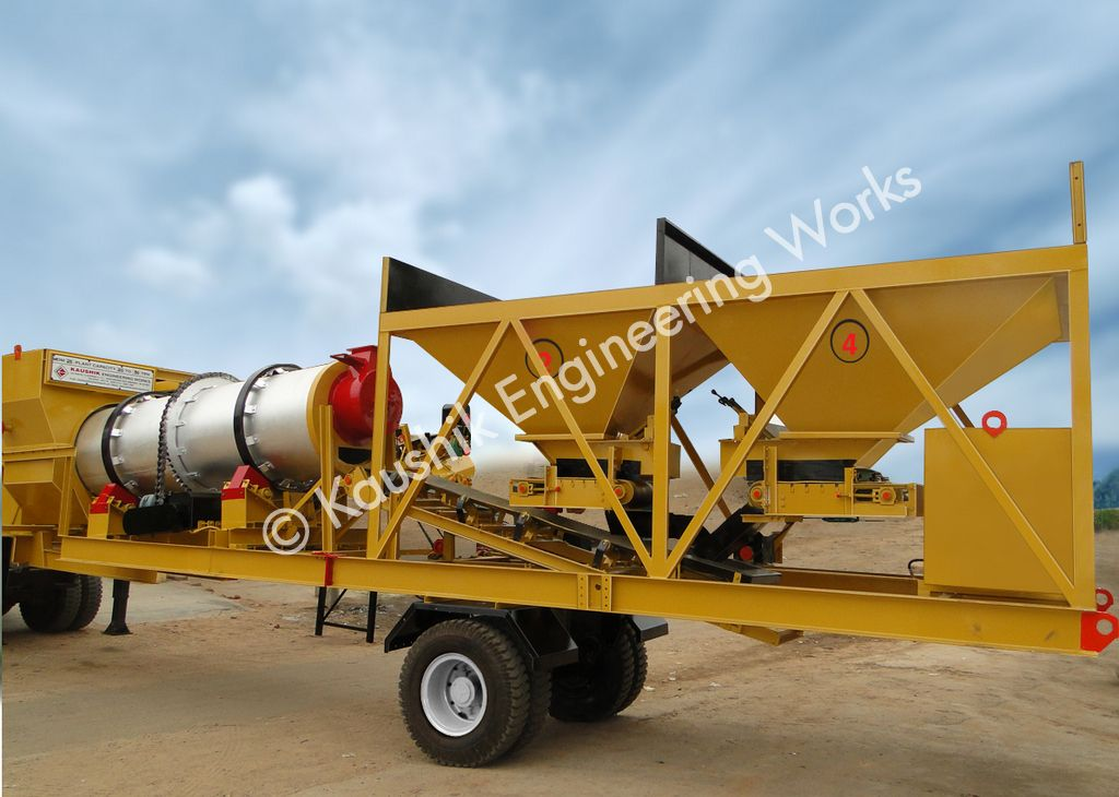 20 to 30 Tons / Hr Mobile Asphalt Mixing Plant