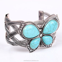 Fancy turquoise butterfly indian bangle wholesale jewelry