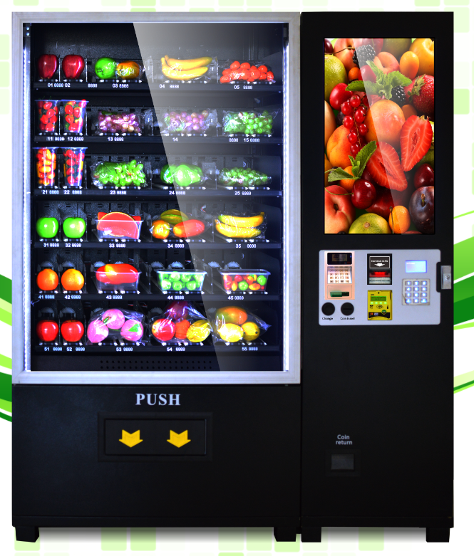 2016 Fresh fruit&salad/vegetables/lunch box vending machine