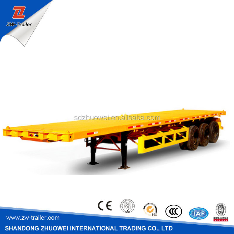 Factory Supply High Quality 40FT Flat Bed Container Semi Trailer