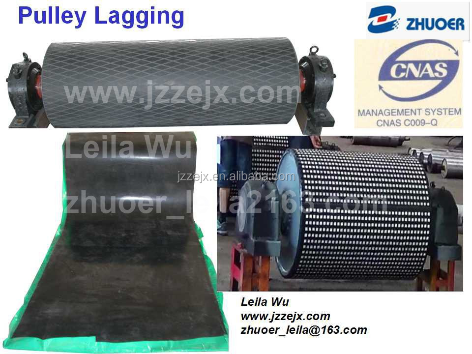 Increase Conveyor Pulley Friction Ceramic Lagging