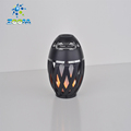 Battery operated flame table lamp with bluetooth speaker function