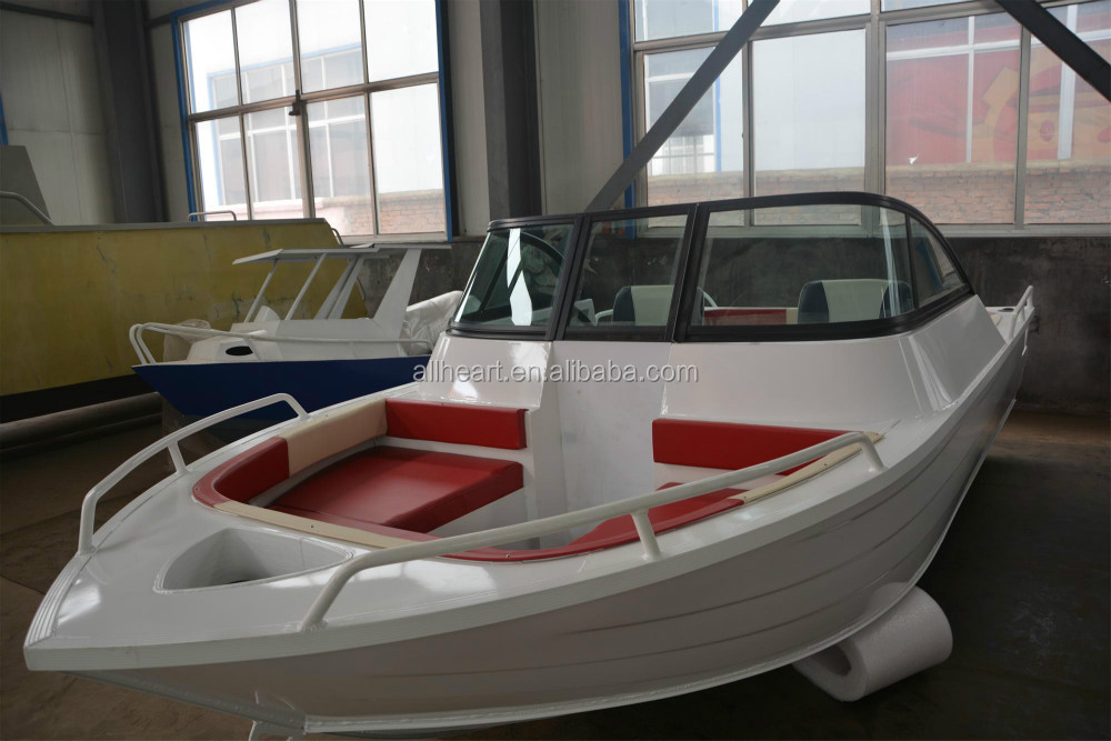 high quality low price hot sales press boat 5m 17ft aluminium open yacht