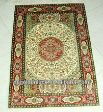 2x3ft chinese tabriz hand knotted silk carpet