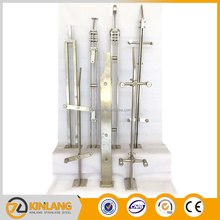 Interior staircase stainless steel fence cable stair hand railing, Post Railing