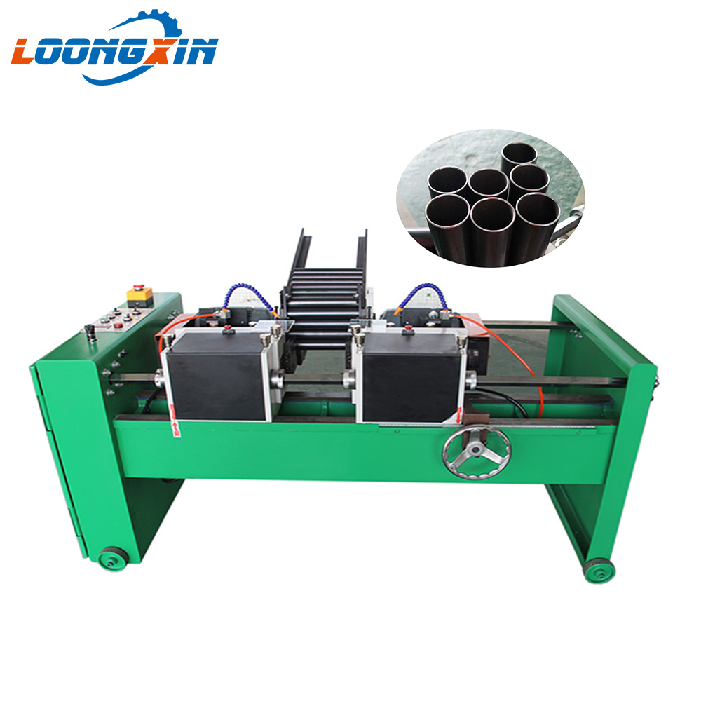 Automatic feeding double-end round bar chamfering <strong>machine</strong> for steel tube/pipe/rod/bar