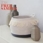 Wholesale laundry hamper storage belly cotton rope basket