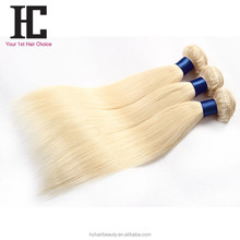 Natural Blonde Straight Human Hair Extensions Honey Blonde Brazilian Hair Weave 6A 7A 8A Brazilian Virgin Hair 613 Wholesale