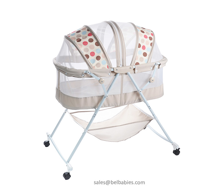 Multifunctional with bumpers metal baby cot bed