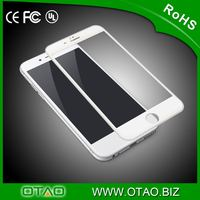 China wholesale original clear 3D OTAO explosion-proof tempered glass screen protector full size with design for iphone 6/6 plus
