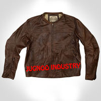 Mens leather motorcycle jacket Semi Motorbike