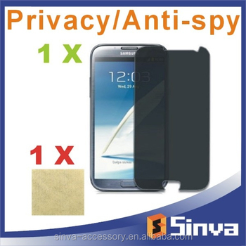 Sinva 9H colorful privacy tempered glass screen protector for sumsung S4 S5