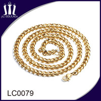 Latest design mens and women 18k yellow gold chain