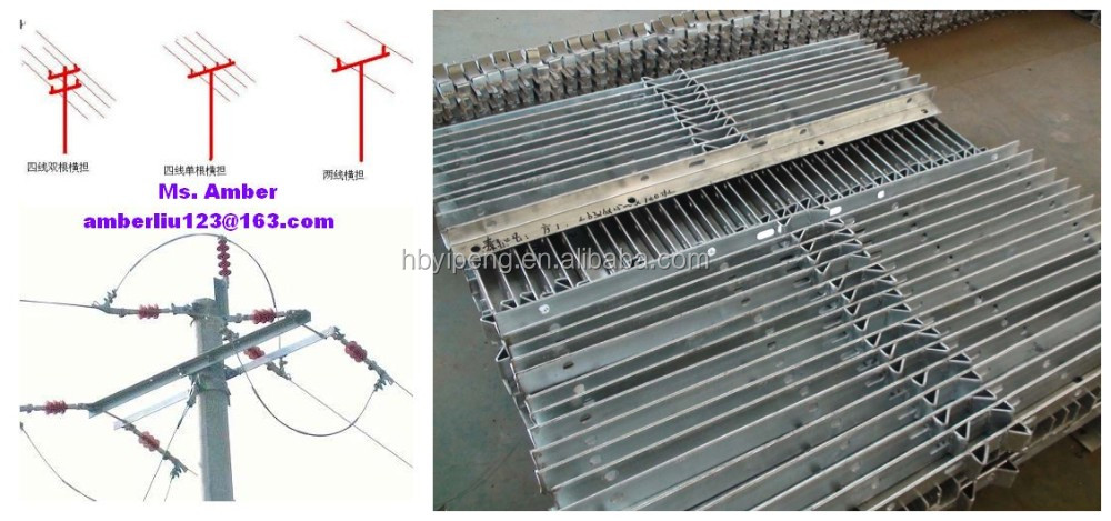 11KV/33KV Steel Crossarm/Electric Cross Arm/Pole Arm for Overhead Electric Power Line Hardware