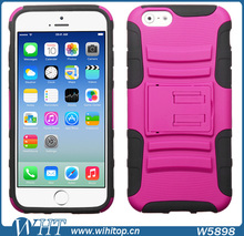 Rubberized Combo Heavy Duty Armor Case for iPhone 6 Plus 5.5 Inches, with Stand Function