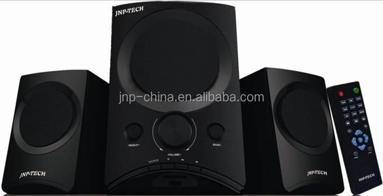Home theater music system 2.1 multimedia speaker with USB port SD card and Fm radio