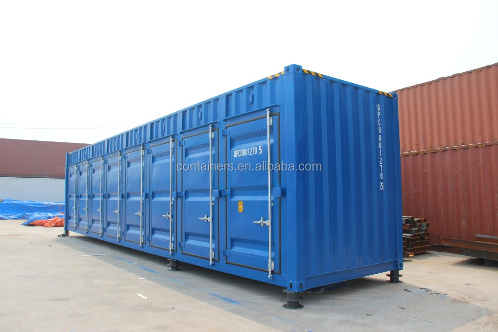 RAL color open side 40 feet high cube storage shipping container -- Jenny