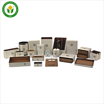 High Quality 20 pcs golden wooden box hotel leather products