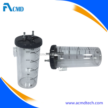 Hospital Medical Use Medical Vacuum Jar PC Material Suction Canister
