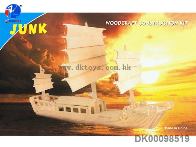 Wooden Miniature Toy Ship