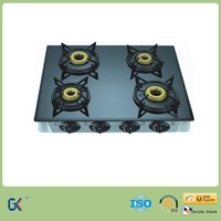 Indian Style Cooktop Tempered Glass Top 4 Burner Gas Stove