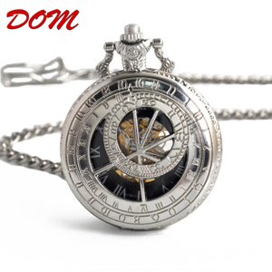 DOM brand china bulk wholesale silver chinese modern outdoor waterproof japan movt digital pocket watch