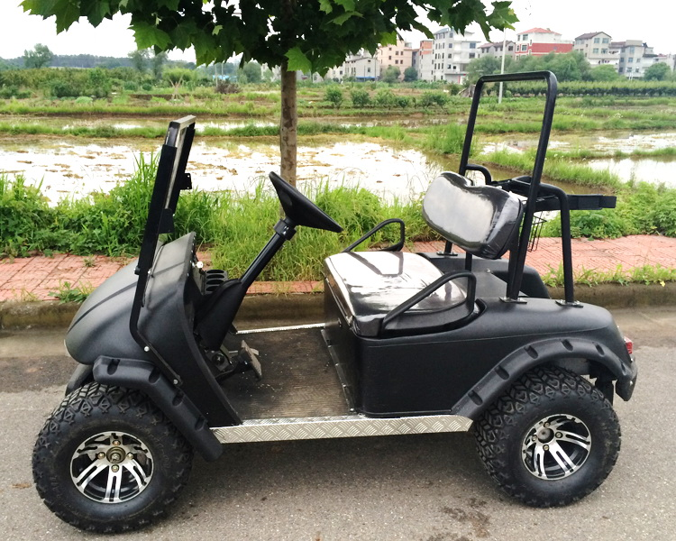 2seater electric power electric open top sightseeing golf cart