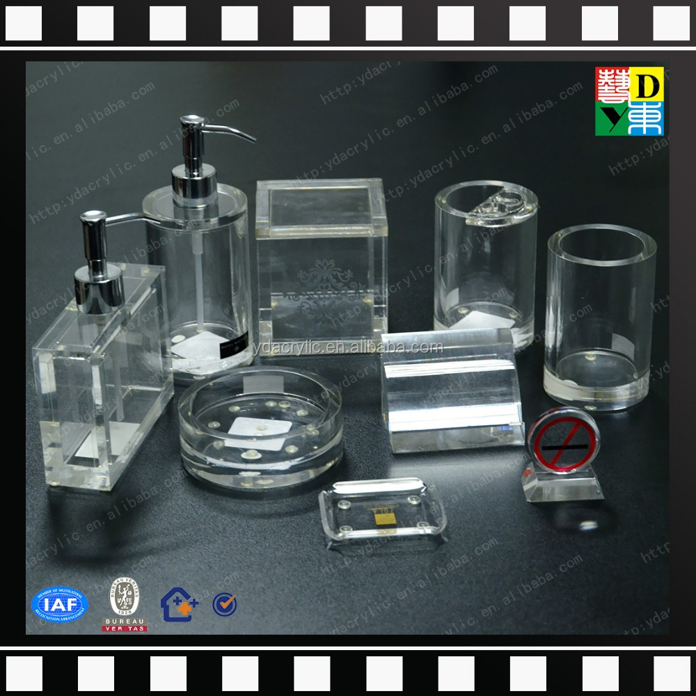 2016 wholesale acrylic hotel balfour bathroom accessories transparent acrylic bathroom set for - Bathroom accessories dubai ...