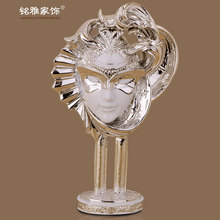 High quality home interior decoration custom made resin beauty face figurine