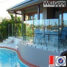 8mm 10mm 12mm thick tempered glass sheet railing pool