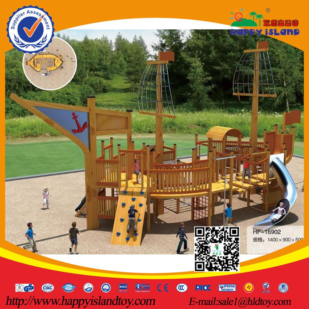 Cheap Children Wooden outdoor Playground Equipment For Kids,New Design Commercial Outdoor Wooden Playground