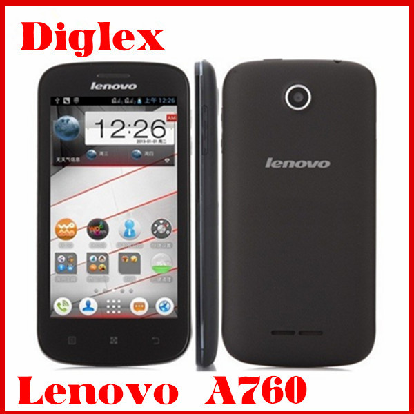 Original Lenovo A760 Smartphone Quad Core Android 4.1 Mobile Phone 4.5 inch 1GB RAM 4GB ROM 5MP Dual Sim Card 3G Cell Phone